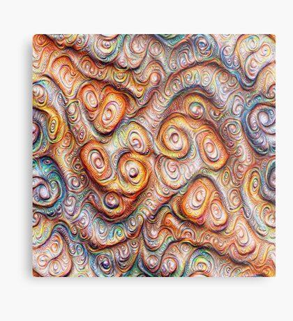 Frozen Abstract Energy #DeepDream #Art Metal Print