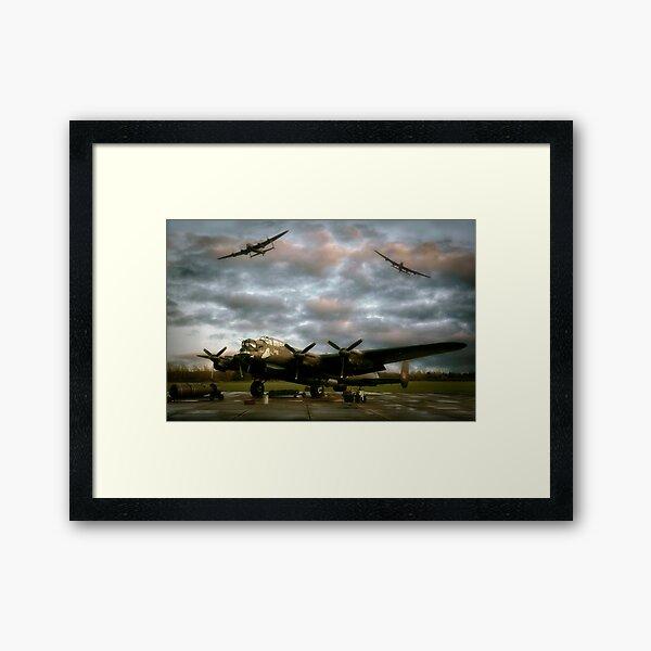 The Avro Lancaster Trio Framed Art Print
