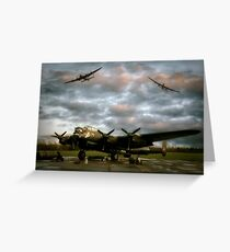 The Avro Lancaster Trio Greeting Card