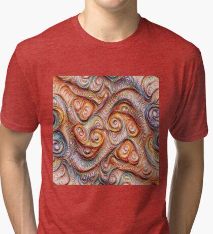 Frozen Abstract Energy #DeepDream #Art Tri-blend T-Shirt