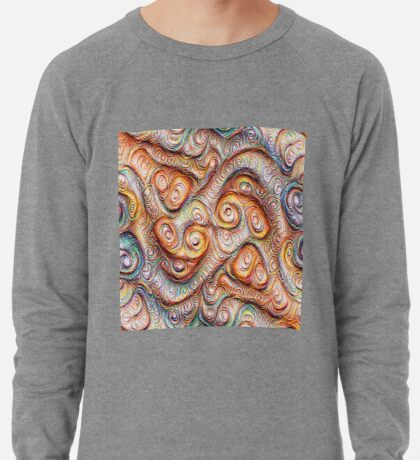 Frozen Abstract Energy #DeepDream #Art Lightweight Sweatshirt
