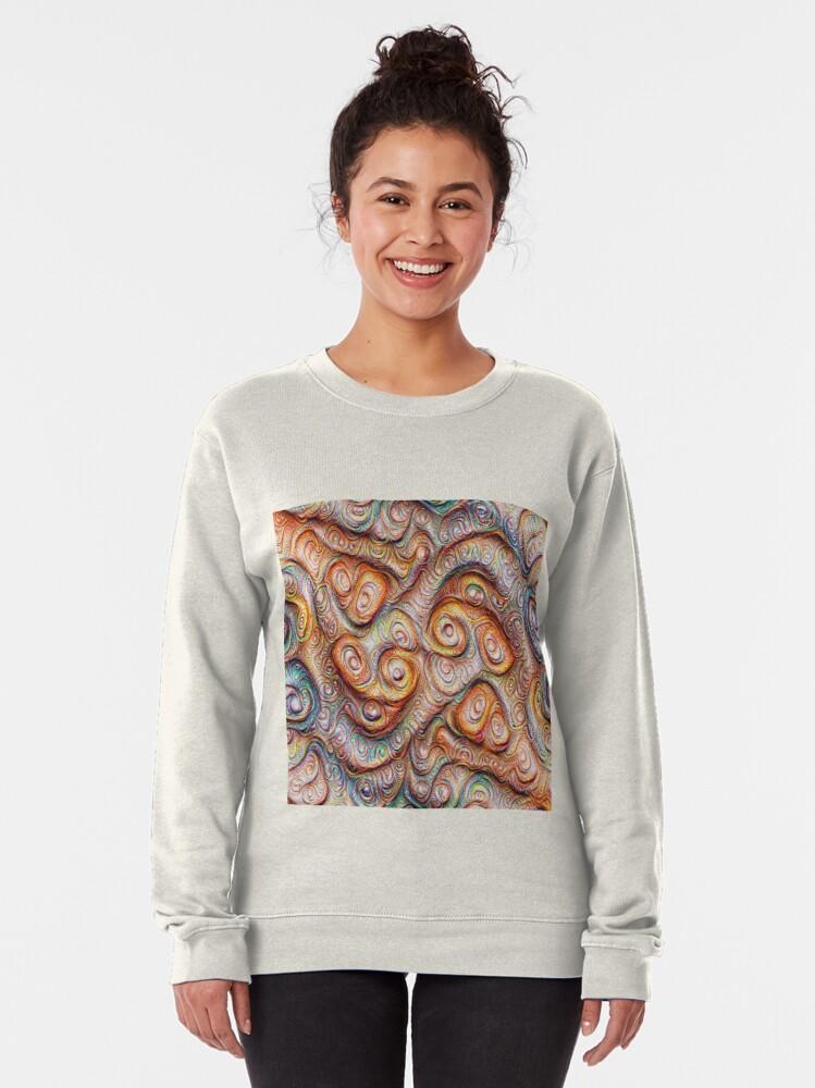 Alternate view of Frozen Abstract Energy #DeepDream #Art Pullover Sweatshirt