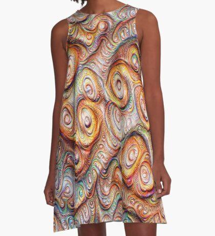 Frozen Abstract Energy #DeepDream #Art A-Line Dress