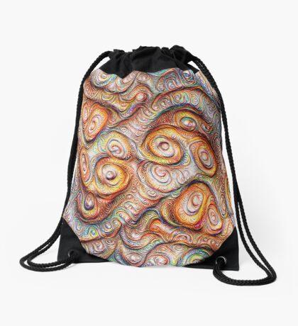 Frozen Abstract Energy #DeepDream #Art Drawstring Bag