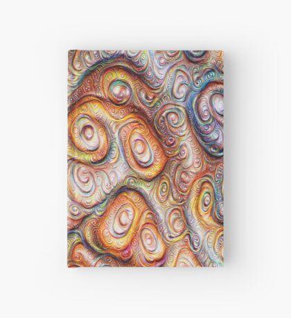 Frozen Abstract Energy #DeepDream #Art Hardcover Journal