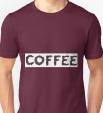 Coffee word made out of coffee beans T-Shirt