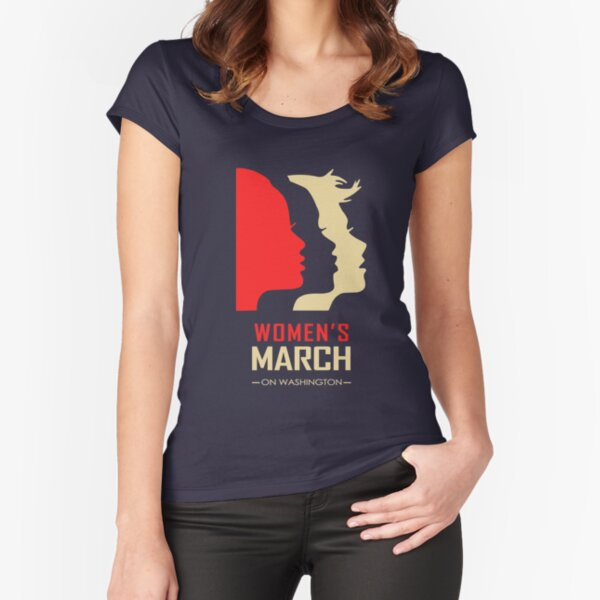 Women's March on Washington Fitted Scoop T-Shirt
