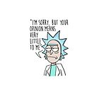 Rick and Morty - Your Opinion (light tshirts vers) by LgndryPhoenix