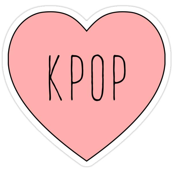 Korean Wall Stickers Quot I Love Kpop K Pop Music Korea Korean Heart Quot Stickers By Quot Annyeong Hello