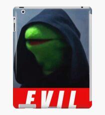evil kermit iPad Case/Skin