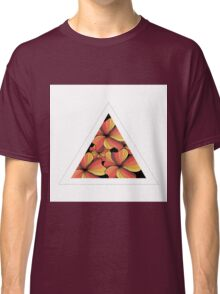 orange flowers in triangle Classic T-Shirt