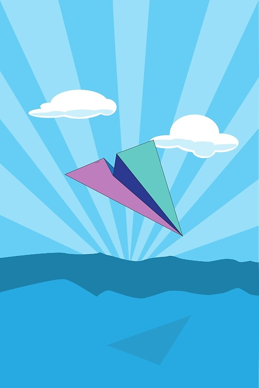 Quot Paper Airplane 78 Quot Art Prints By Yopedro Redbubble