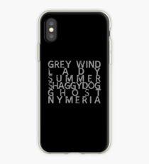 GoT Direwolf Typography (transparent) iPhone Case