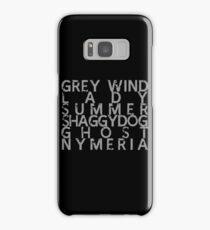 GoT Direwolf Typography (transparent) Samsung Galaxy Case/Skin