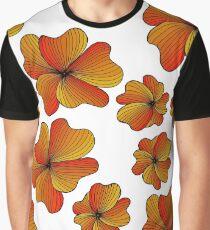 orange flowers pattern Graphic T-Shirt