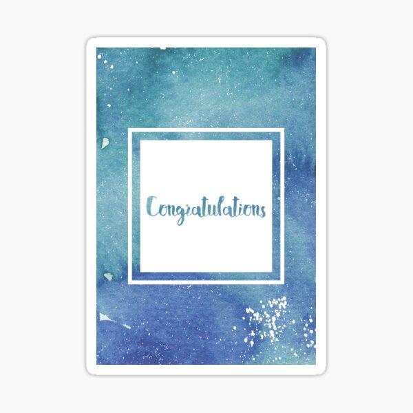 Congratulations Card Sticker