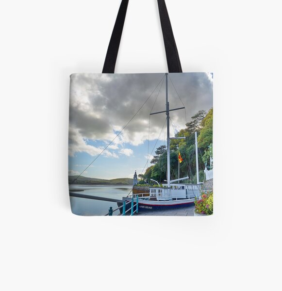 Boat At Portmeirion . All Over Print Tote Bag