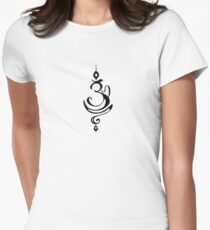 Namaste Om Symbol Fancy  Womens Fitted T-Shirt