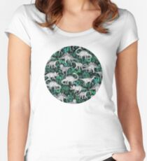 Dinosaur Jungle Women's Fitted Scoop T-Shirt