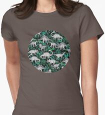 Dinosaur Jungle Womens Fitted T-Shirt