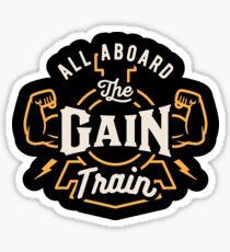 Alle an Bord der Gain Train Sticker