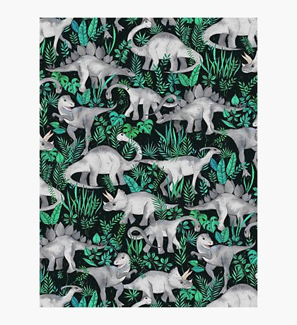 Dinosaur Jungle Photographic Print