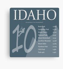 Idaho - Top 10 Peaks Canvas Print