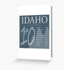 Idaho - Top 10 Peaks Greeting Card