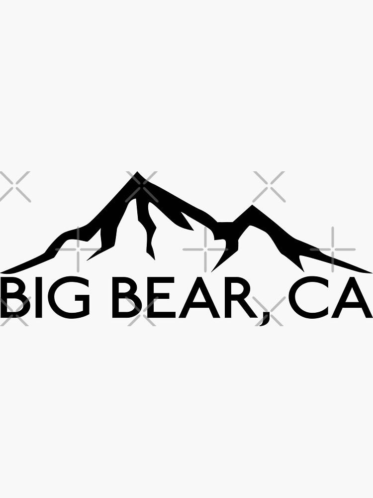 BIG BEAR CALIFORNIA Mountain Skiing Snowboard Biking Hiking Ski Camping by MyHandmadeSigns