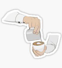 Latte-art Sticker
