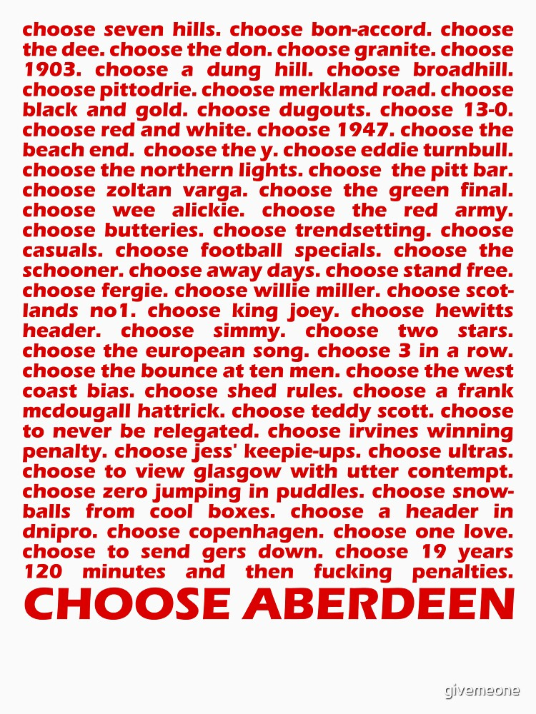 Choose Aberdeen. | Unisex T-Shirt