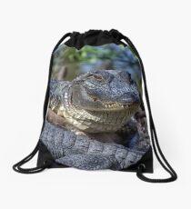 Smiling Sam The Gator Man Drawstring Bag
