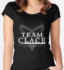 Shadowhunters - Team Clace Women's Fitted Scoop T-Shirt