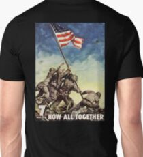 Iwo Jima, American, War, POSTER, USA, Raising the Colours, America, Americana, WW2, WWII Unisex T-Shirt