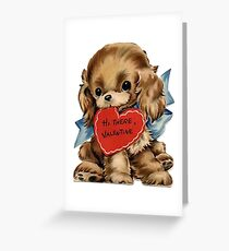 Vintage Valentine's Day Puppy Greeting Card