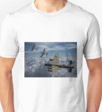 Lancaster Bomber and Spitfire Escort Unisex T-Shirt