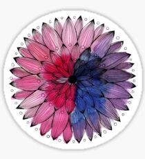 watercolour flower mandala Sticker
