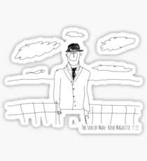 The Son of Man- Rene Magritte Sticker