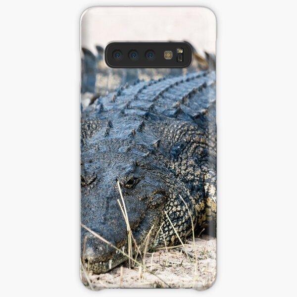 Crocodile lining in the bush, game reserve Botswana Samsung Galaxy Snap Case