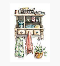 Kitchen Shelf Photographic Print
