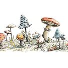 Mushrooms by StrangePersimon