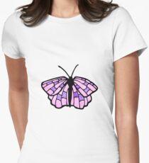 cartoon butterfly Women's Fitted T-Shirt
