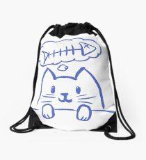 Cute Hungry Cat  Drawstring Bag
