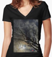 canadian frontiers 7 Women's Fitted V-Neck T-Shirt