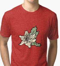 cartoon flowers Tri-blend T-Shirt