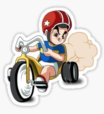 Ghenny riding a Tricycle Sticker
