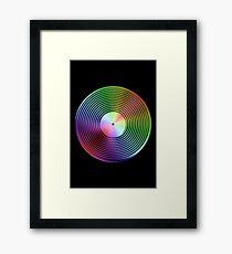 Vinyl LP Record - Metallic - Rainbow Framed Print