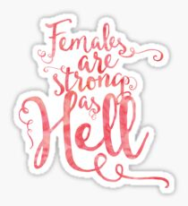 Females Are Strong in Pink Sticker