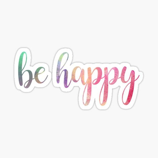 be happy watercolor Sticker