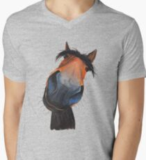 HAPPY HORSE 'HAPPY DAVE' BY SHIRLEY MACARTHUR Mens V-Neck T-Shirt